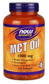 Olej MCT z oleju kokosowego i palmowego Oil MCT 1000mg 150 kapsułek NOW SPORTS