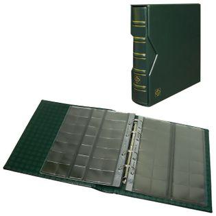 Optima album na 304 monety z etui 10 kart zielony