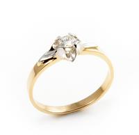 Pierścionek Zaręczynowy z Brylantem [PZB -002] ROZMIAR - 22