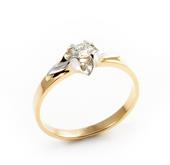 Pierścionek Zaręczynowy z Brylantem [PZB -002] ROZMIAR - 20