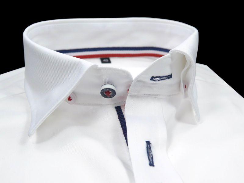 Biała koszula męska Mmer z długim rękawem 217 Rozmiar  jn34H