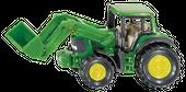 SIKU Traktor John Deere z przednią ładowarką