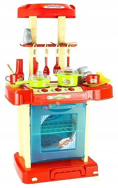 Kuchnia dla dzieci w walizce Piekarnik Zlew Akcesoria kuchenne U07 zdjęcie 12