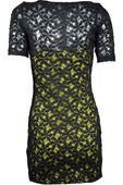 Koronkowa sukienka,żółto - czarna  - 38 / M zdjęcie 2