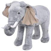 Pluszowy słoń, stojący, szary, XXL
