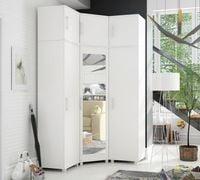 Duża garderoba narożna 130 wysoka z lustrem