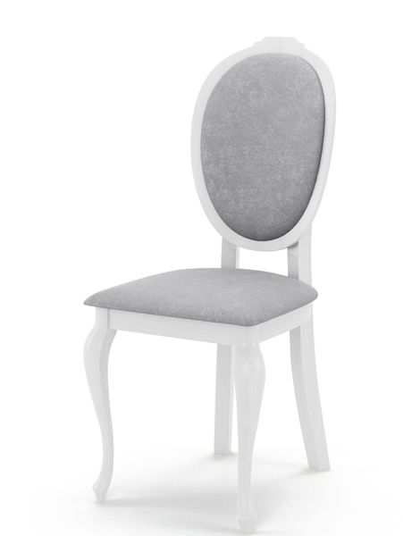 Białe Krzesło Tapicerowane Sonia