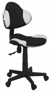Fotel do biurka Q-G2 dla dziecka CZARNO BIAŁY