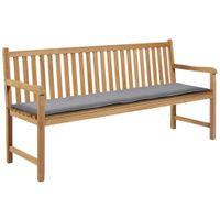 Poduszka na ławkę ogrodową szara 180x50x3cm VidaXL