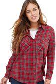 New Look Czerwona Luźna Koszula w Kratę - 34 / XS