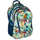 Plecak szkolny młodzieżowy Astra Hash HS-05, kwiaty tropikalne