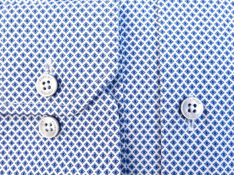 Koszula w drobny wzór - kwiatki 850 Rozmiar koszuli i fason - 176-182 / 43-Slim zdjęcie 2