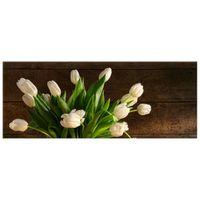 OBRAZ DRUKOWANY  Kremowe tulipany 100x40