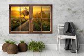 Obraz na płótnie - Canvas, okno - droga ku zachodowi 60x40 zdjęcie 2