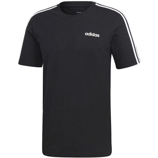 Koszulka męska adidas Essentials 3 Stripes Tee czarna DQ3113 XL zdjęcie 1
