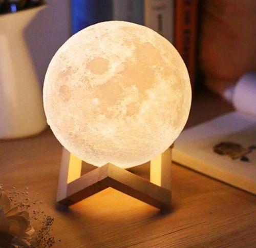 Lampka nocna księżyc 3D Moon Light Dotykowa ze ściemniaczem G236 na Arena.pl