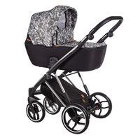 Wózek dziecięcy wielofunkcyjny La Rosa Limited Baby Merc zestaw 2w1 czarno-biały