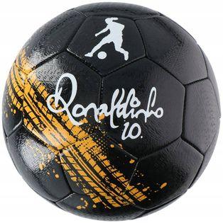 Ronaldinho - Piłka do nogi na asfalt rozmiar 5 (Czarny)
