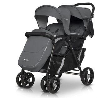 EASY GO Wózek dziecięcy bliźniaczy FUSION kolor IRON dla Bliźniąt