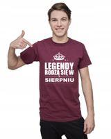Koszulka męska LEGENDY RODZĄ SIĘ W SIERPNIU L