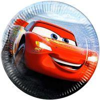 Talerzyki papierowe CARS 3 Disney Auta 20cm 8szt