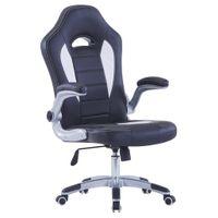 Fotel dla gracza czarny sztuczna skóra VidaXL