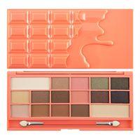 I Heart Makeup Palette Zestaw cieni do powiek Chocolate and Peaches  22g (16 kolorów)