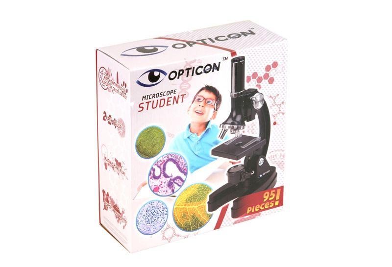 MIKROSKOP OPTICON Student 1200x + DODATKI zdjęcie 2