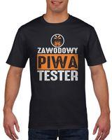 Koszulka męska Zawodowy tester piwa L Czarny