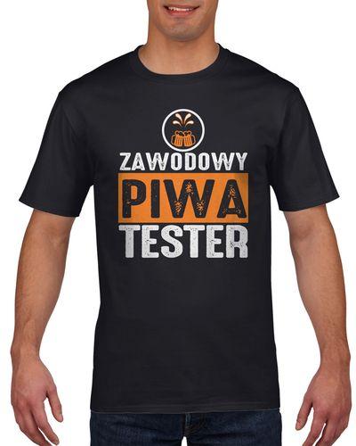 Koszulka męska Zawodowy tester piwa L Czarny na Arena.pl