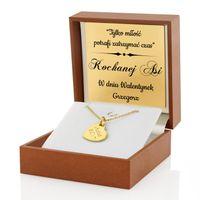 Srebrny komplet 925 Prezent NIEJ Walentynki GRAWER