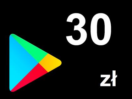 Karta Google Play 30 zł Kod Prepaid Klucz Android