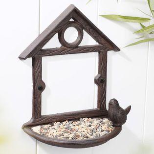 Lumarko Wiszący karmnik dla ptaków w kształcie domku, 18 cm, brązowy