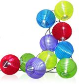 LAMPKI SOLARNE ogrodowe kulki COTTON BALLS łańcuch 10 kulek mix kolor zdjęcie 2
