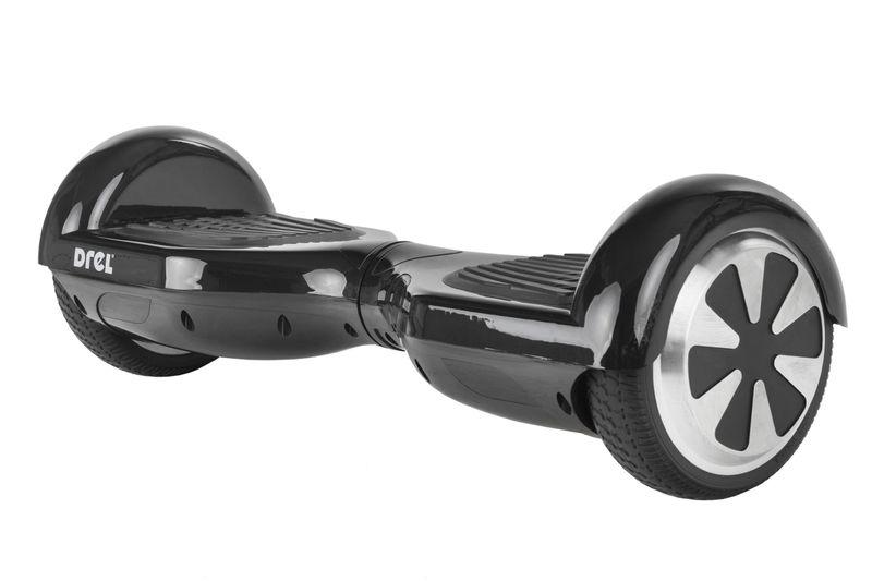 """Deskorolka elektryczna samobalansująca mini 6,5"""" DREL czarna zdjęcie 1"""