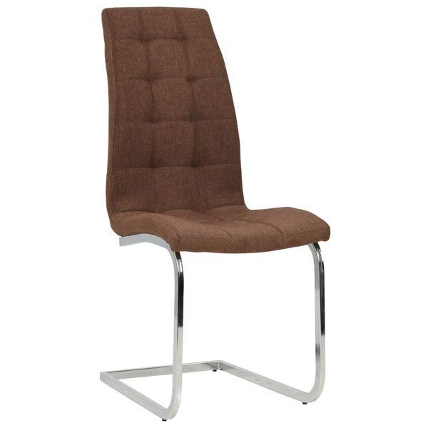Krzesła Stołowe, 2 Szt., Brązowe, Tkanina zdjęcie 3
