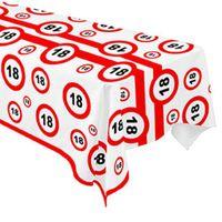 Obrus foliowy na 18 urodziny znak Traffic Birthday