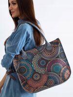 Duża pojemna torebka damska klasyczna filcowa A4