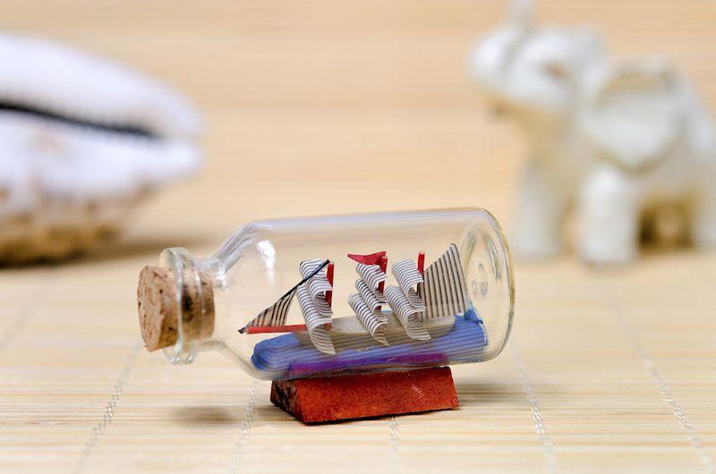 BUTELECZKA szklana 20x50mm 5cm z korkiem 1szt. zdjęcie 8