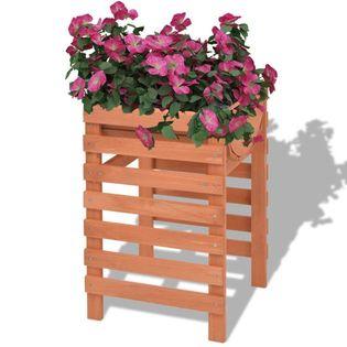 Skrzynka Na Kwiaty Drewniana 38X36X60 Cm