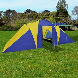 Namiot 6 Osobowy Granatowo-Żółty