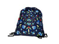 Worek sportowy/plecak - wzory kaszubskie - granatowy