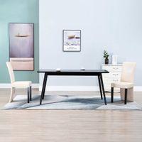 Krzesła jadalniane 2 szt. kremowe sztuczna skóra VidaXL