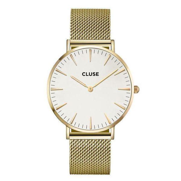 watch2love CLUSE LA BOHEME MESH GOLD WHITE CL18109 FVAT GWARANCJA zdjęcie 1