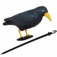 Odstraszacz ptaków 11x39x18,5cm stojący kruk czarny z żółtym dziobem