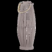 LAMPION DREWNIANY BEŻOWY WYSOKI 62CM