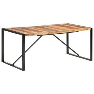 Stół jadalniany, 180x90x75 cm, drewno stylizowane na sheesham