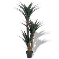 Sztuczna roślina jukka z doniczką, 155 cm, kolor zielony