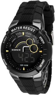 Xonix Wielofunkcyjny zegarek sportowy, LCD / LED, timer, drugi czas, WR 100M, antyalergiczny