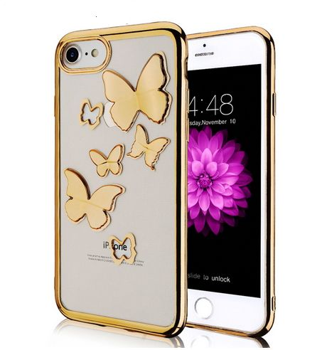Case Etui Obudowa Iphone 7 8 Motyle 3D zdjęcie 1